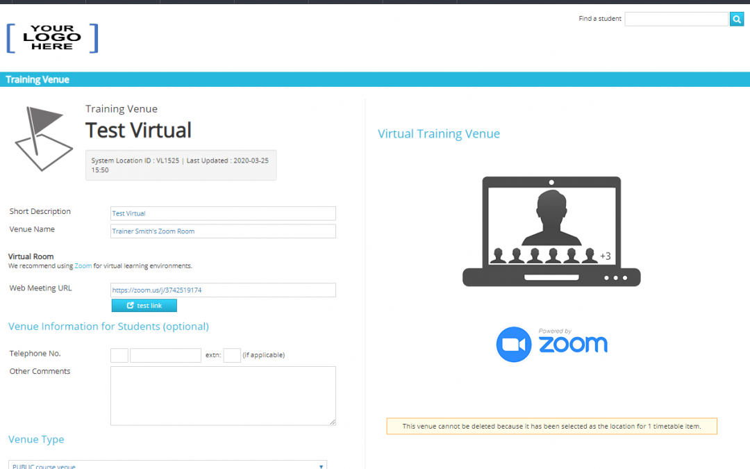 New Release – Virtual Classrooms